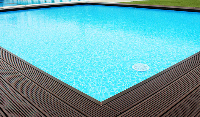 Deck Outdoor and Indoor air swimming pools, scaffolding, ...